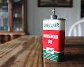 Vintage Sinclair Household Oil Can 4oz. with Lead Top by Sinclair Refining Company New York, New York