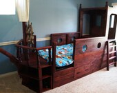 Art culos similares a pirata cama barco pirata de madera - Cama barco pirata ...