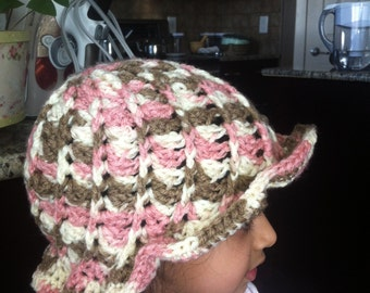 Beautiful Crocheted Hat Sized 3t to 5t