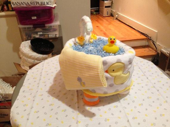 Items Similar To Diaper Cake Ducks Bath Tub On Etsy