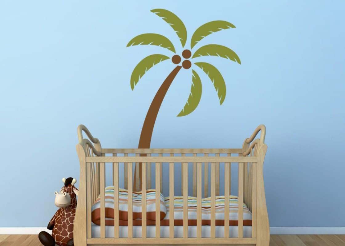 Palm Tree Vinyl Decal Size Medium Home Decor Office Decor