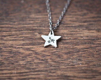 Star Necklace - stars on thars - Tiny Star Charm - Tiny Star Necklace - Small Stars - Sterling Silver Star Necklace - Fine Silver Twinkle
