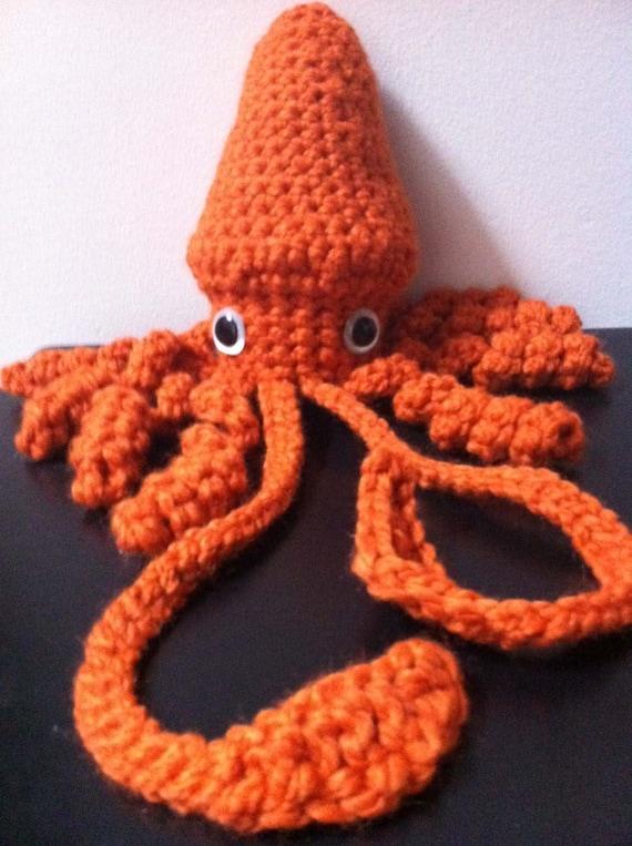 Giant Squid amigurumi crochet pattern from dorklandia Immediate download
