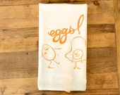 Eggs dish towel eggs Tea Towel