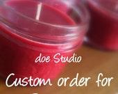 Custom order for Parabasis Mason Jar Soy Candle set - Victorian Christmas
