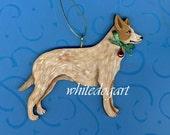 Custom Red Heeler Australian Cattle Dog Christmas Ornament