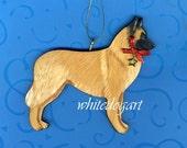 Custom Handpainted Belgian Tervuren Christmas Ornament