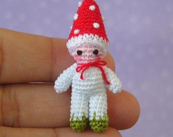 PDF PATTERN - Amigurumi Crochet Tutorial Pattern Miniature Toadstool Mushroom Boy