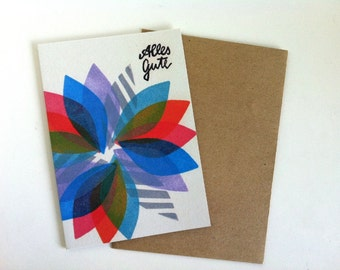 Alles Gute - greeting card  w. envelope- A6 - 100% ECO