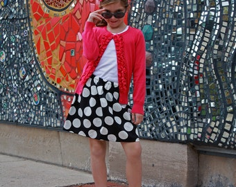 Boutique Ready To Ship toddler girls  tweens skirts  Boutique Sassy Dots 2 Toddler - 12 Youth By K Bella Bambino