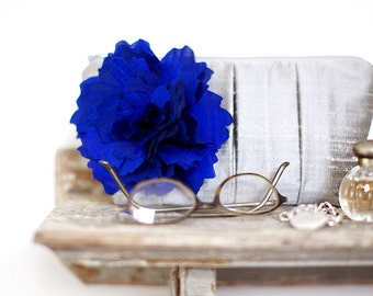 Cobalt blue wedding clutch, personalized wedding gifts, Bridal wedding purse