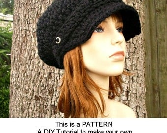 Instant Download Crochet Pattern - Hat Crochet Pattern - Crochet Hat Pattern for Crochet Newsboy Hat - Womens Hat - Womens Accessories