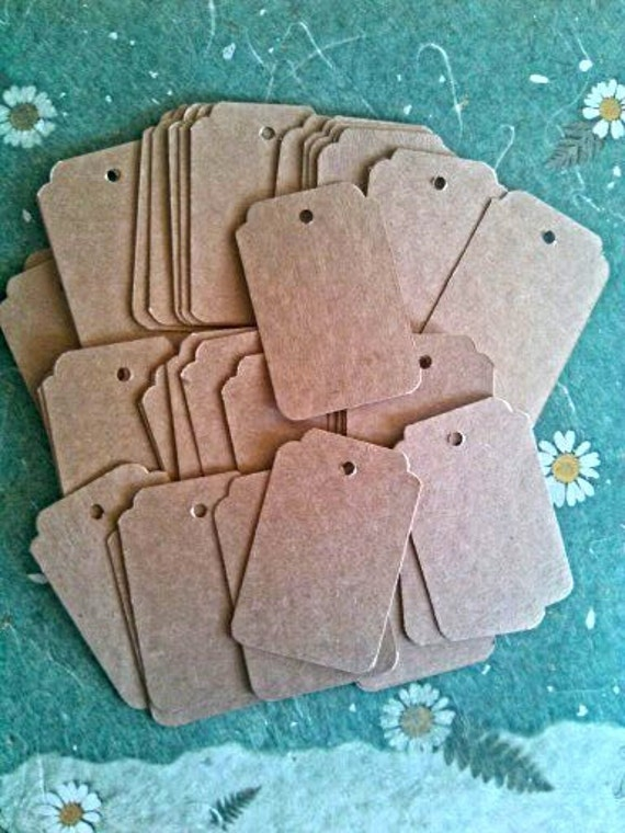 50 Kraft gift tags - 2x3 inch - product tags - wedding favor tags