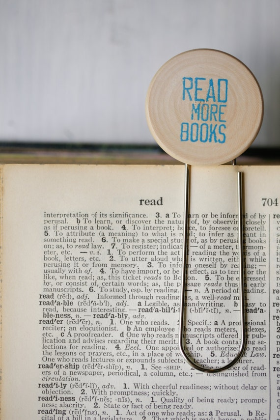 Read More Books Paperclip Bookmark