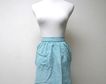 1960 vintage gingham kitchen apron