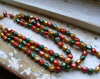 FREE SHIPPING Vintage Multistrand Beaded Layered Necklace