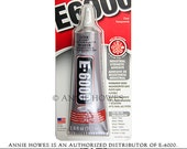 E-6000 Jewelry and Craft Adhesive 2 oz Tube. Annie Howes is an Authorized Distributor of E6000. Made in USA.