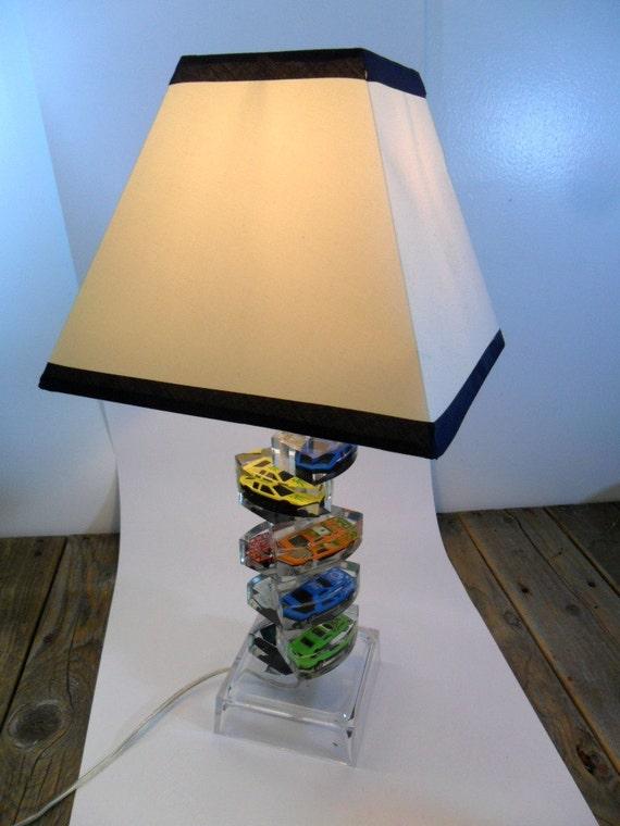 Mid century acrylic car table lamp for Cars 2 table lamp
