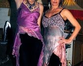 """Vintage Silk Dress/ Hand dyed Reinvented Vintage Slip With a Modern Funky Style """"MOOD MIXER"""""""