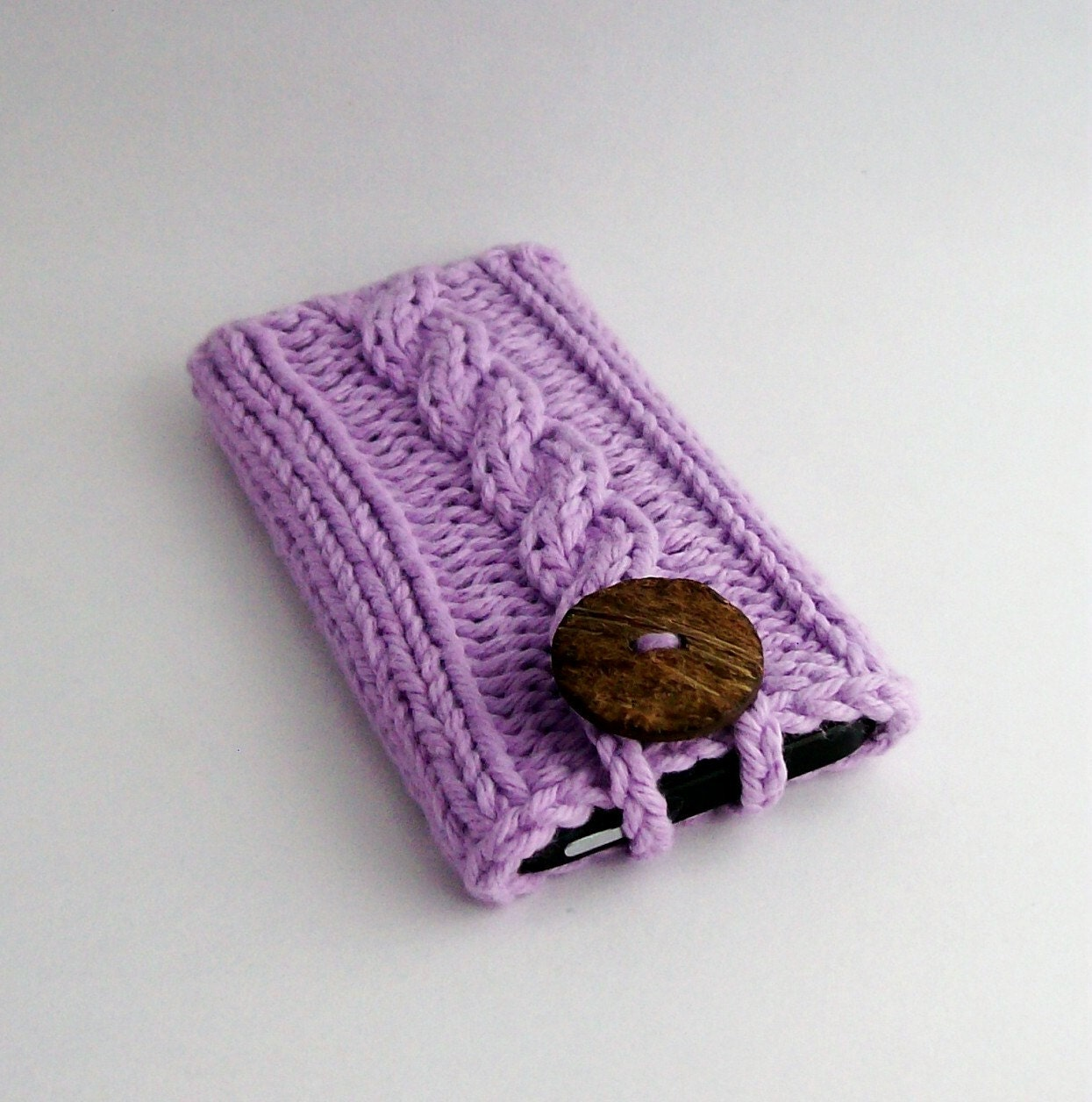 Hand Knit Mobile Cell Phone Cover for the iPhone 4 5 6 or 7