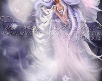 Dreamweaver ...  Fairy Art Print...Fairy lights Night Star Fairy... Fairy Pictures... Fairy weaving dreams