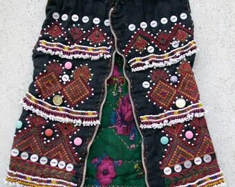 Afghanistan- Vintage Ceremonial Kohistani or Nuristani Child's Vest 10
