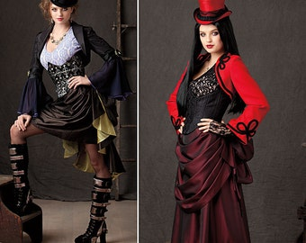 Simplicity 1819-Steampunk Bolero,Top, Corset and Bustle Skirt-Plus Size