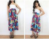 Bold Print Halter Dress - S
