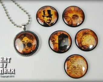 Grunge Steampunk Inspired Magnetic Interchangeable Pendant Gift Set