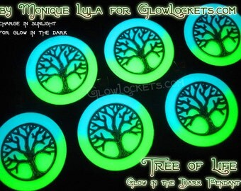 2 Color Tree of Life Glow in the Dark Pendant
