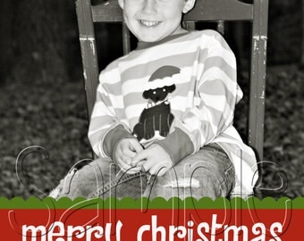Large Photo Christmas Holiday Card