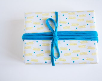 Geometric wrapping paper - 3 sheets - Duplex printing : Fishes and Arrows