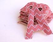 Soft Sewn Alphabet with Pink Chevron Fabric ABCs