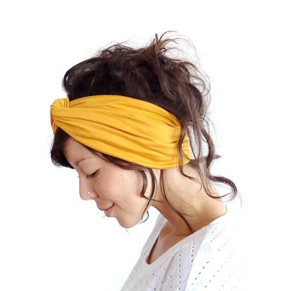 Turban Headband Mustard