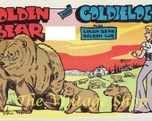 Golden Bear and Goldilocks .. Squeaky QSL Radio Trade Cards Quad set - thevintageshop