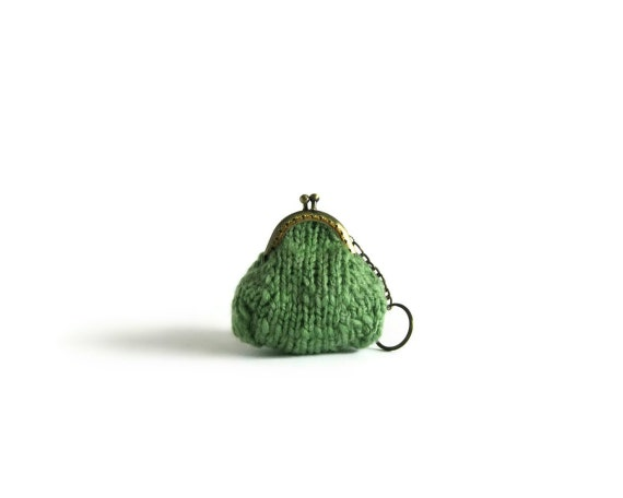 Mint Coin Purse Knitted