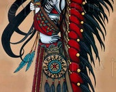 Wakanda Native Tribal Fusion Magical Peace Warrior 13 X 19 inch Art Print