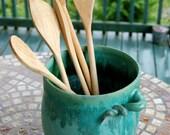 Turquoise Utensil Holder - Made to Order