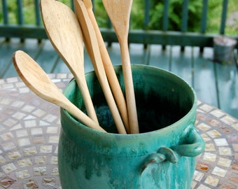 Turquoise Utensil Holder - Made to Order