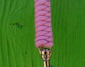 wrist lanyard pink paracord
