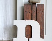 Large Vintage Sign Letter N /  Initial, Marquee, Wedding Decor