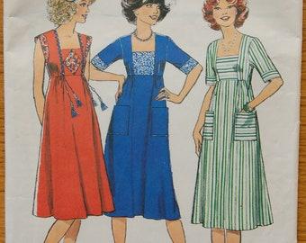 "1970s vintage original Style 1878 sewing pattern Women's dress size Bust 34"""