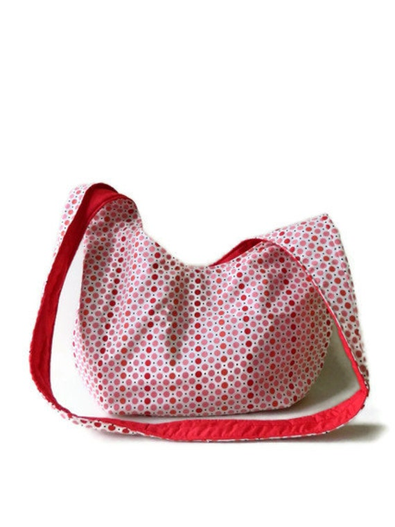 Red and Coral Polka Dot Swag Bag