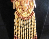The Virtuous Fawn Native American Style Bead Embroidered Necklace SALE Use COUPON Code HAPPY2013 for 30 Percent Off