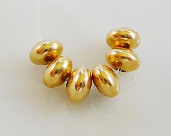4mm Bead 14 kt Gold Filled Rondel Saucer Spacer, 6