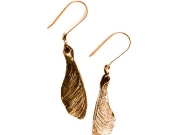Maple Seed Earrings (helicopter Whirly gig)