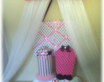 Disney Princess Fairy Bed Canopy Girls Bedroom Netting
