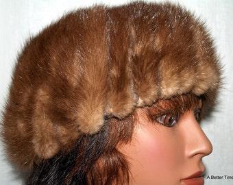 Mink hat 60s vintage cap