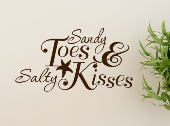 Sandy Toes And Salty Kisses Beach Decor Decal - Starfish ...