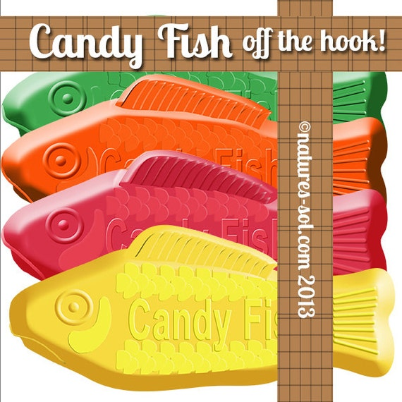 Items similar to candy fish clip art based on swedish fish for Swedish fish colors